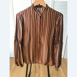 BCBG Peasant-Sleeve blouse